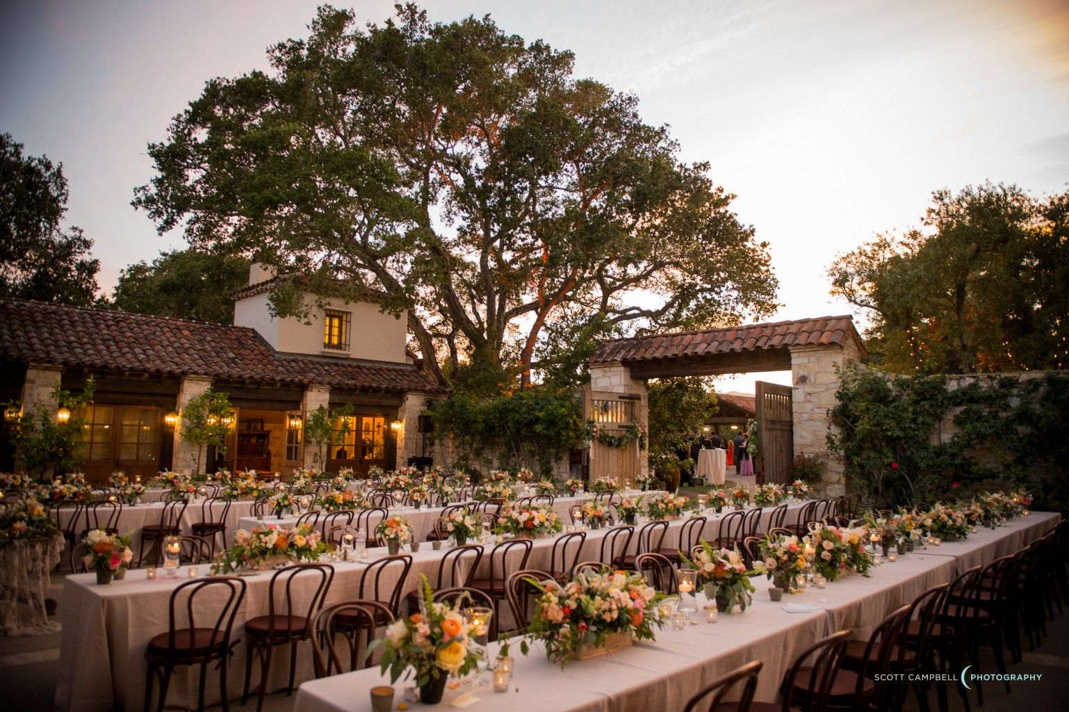rose patio at holman ranch wedding by coastside couture