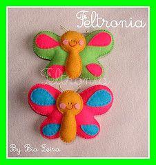 Da srie: Bichinhos de Jardim... (Feltronia by Bia Leira) Tags: artesanato beb feltro decorao borboletas maternidade ms insetos lembrancinhas chaveiros feltronia bialeira bichosdejardim