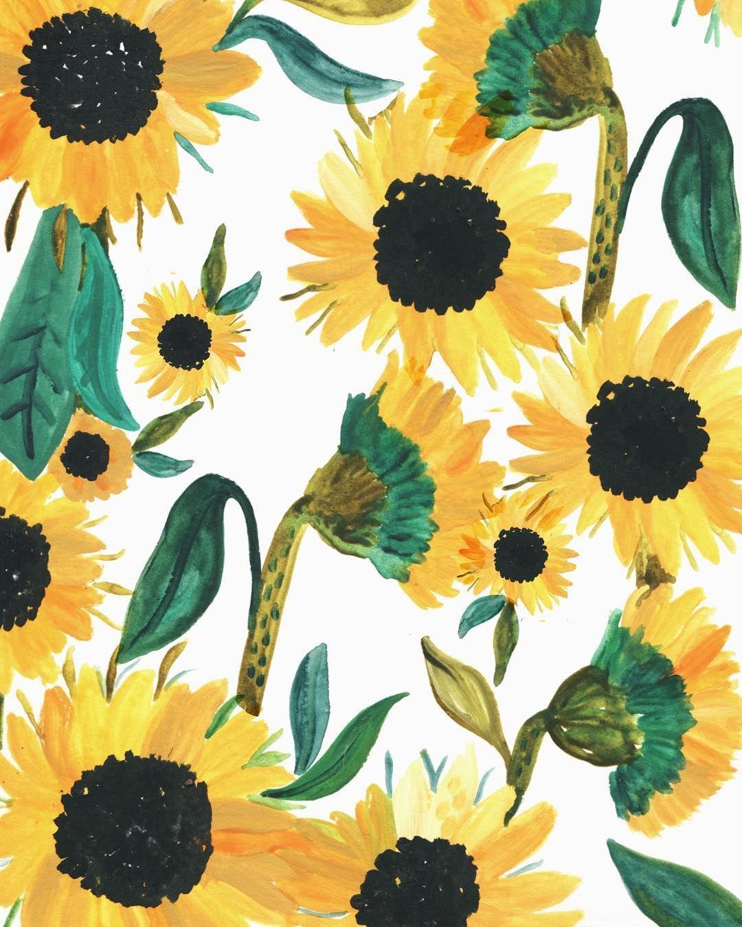 Sunday Sunflowers by rosieharbottle Girassol desenho