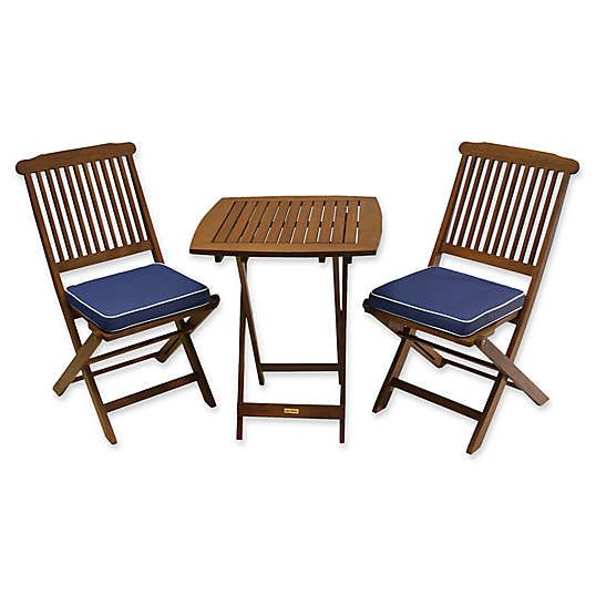 Phenomenal Patio Bistro Sets Bistro Tables Chairs Bed Bath Ibusinesslaw Wood Chair Design Ideas Ibusinesslaworg