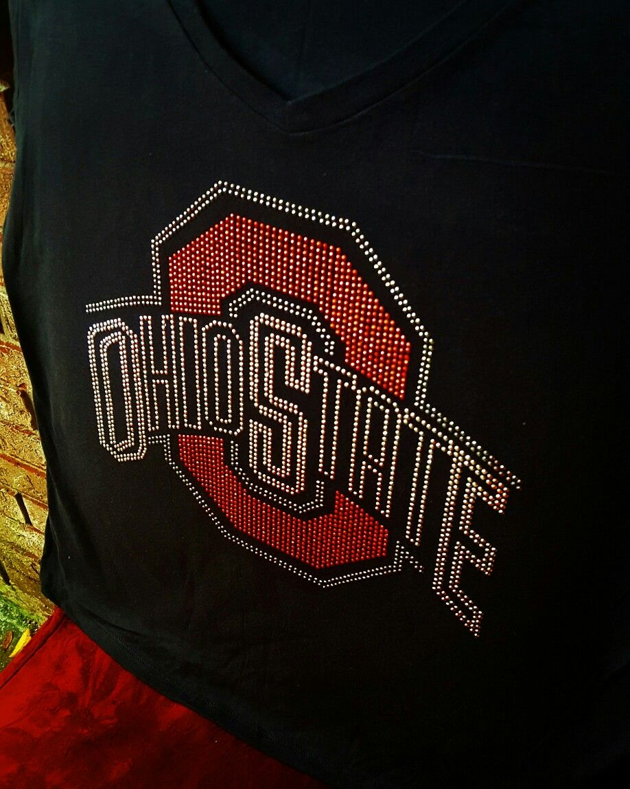 bf728152 Rhinestud #OhioState BeDazzled T-shirt...#OSU #Buckeyes please direct  message @Ms_Diva_Kelley on Instagram or iBlingTeesByMDK on Facebook for  cost, and size ...