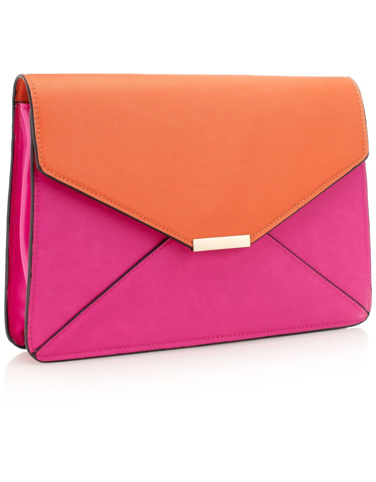 Color Block Large Envelope Clutch | ACCESSORIES SHOW™ | Pinterest ...