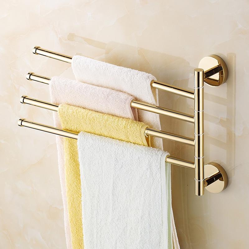 28.79$  Buy now - https://alitems.com/g/1e8d114494b01f4c715516525dc3e8/?i=5&ulp=https%3A%2F%2Fwww.aliexpress.com%2Fitem%2FBathroom-Movable-Towel-Bar-2-3-4-Rod-Rotary-Towel-Rack-Gold-Hanging-Rod-30cm-Gold%2F32739440617.html - Modern Gold/Silver Movable Towel Bar 2/3/4 Rod Rotary Brass Towel Rack Hanging Rod 30cm Towel Hooks Bathroom Products