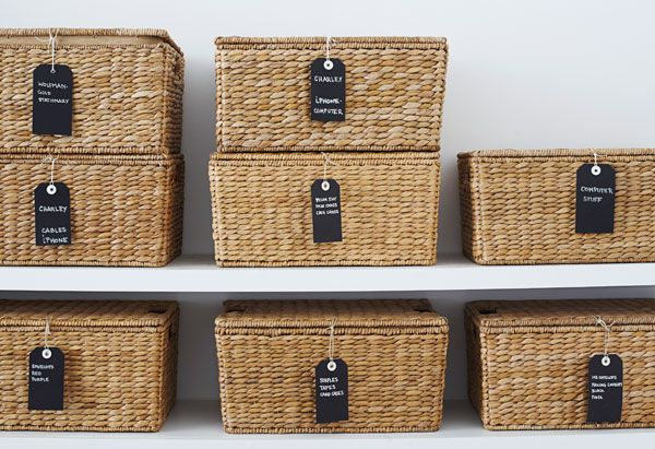 26+ Organizing tags for baskets ideas
