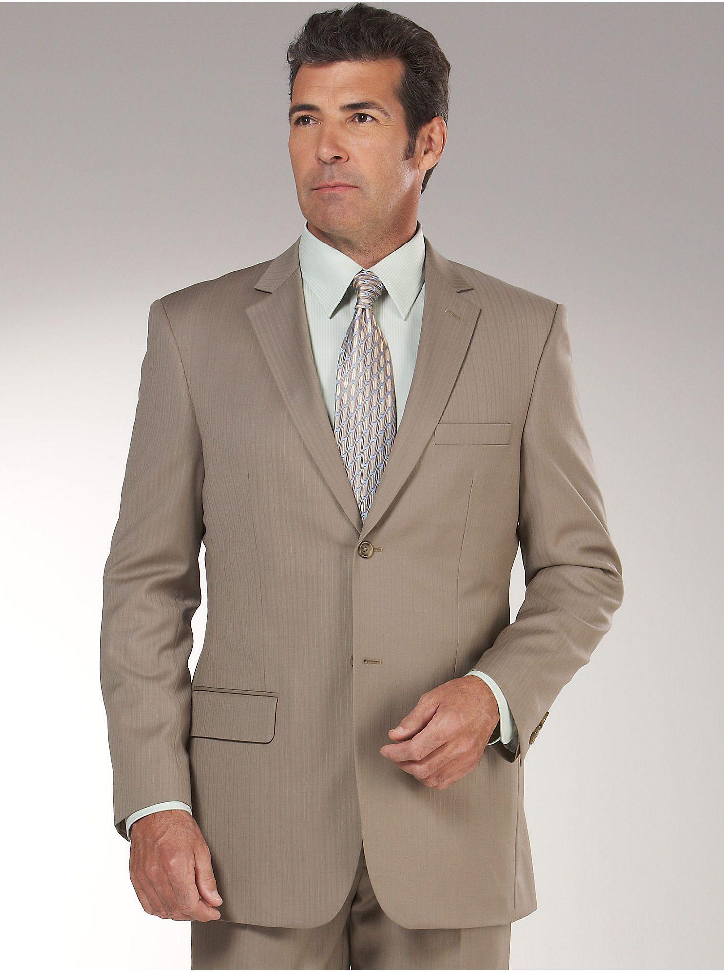 Suits & Suit Separates - Pronto Uomo Tan Stripe Suit - Men's ...