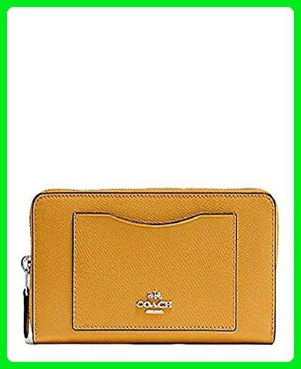 40aef9fa699a Coach Crossgrain Leather Accordion Zip Wallet F54007 SV Mustard - Wallets (  Amazon Partner-Link)