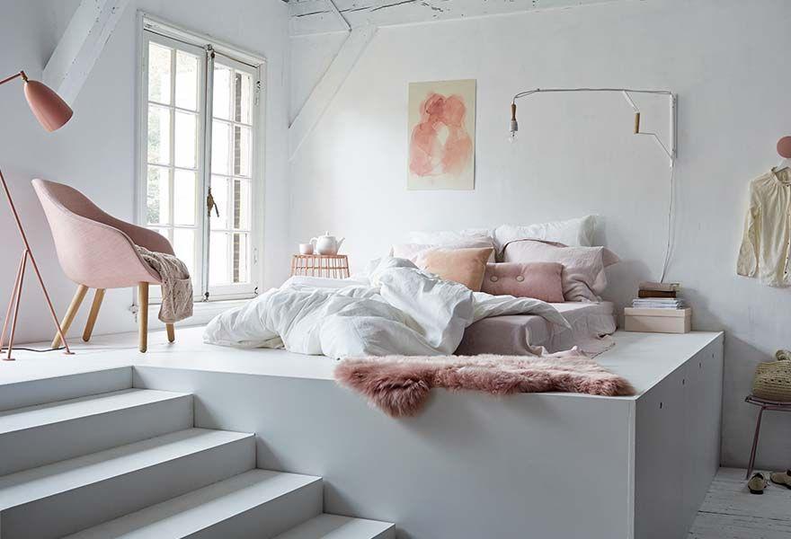 woontype_romantisch   Pink    Bed platform