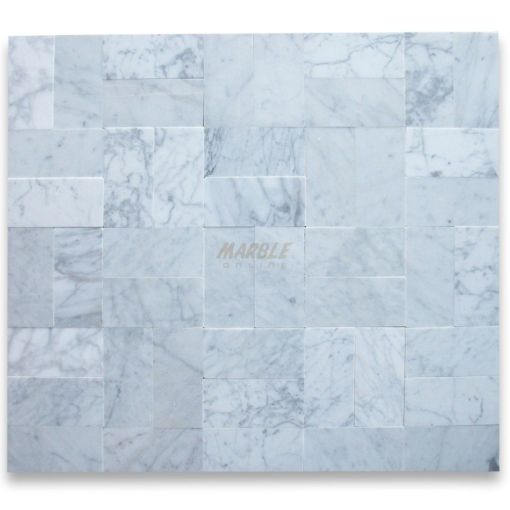 Carrara White 3x6 Subway Tile Polished - Marble from Italy