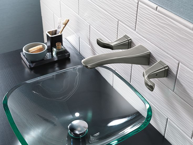 The Tesla Two Handle Wall Mount Faucet Part Of New Delta Bath Collection