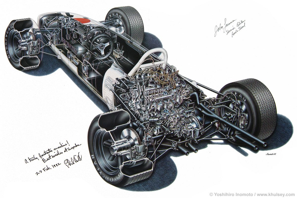 Chassis design of f1 car - 1965 Honda Ra272 Formula 1 Car By Yoshihiro Inomoto