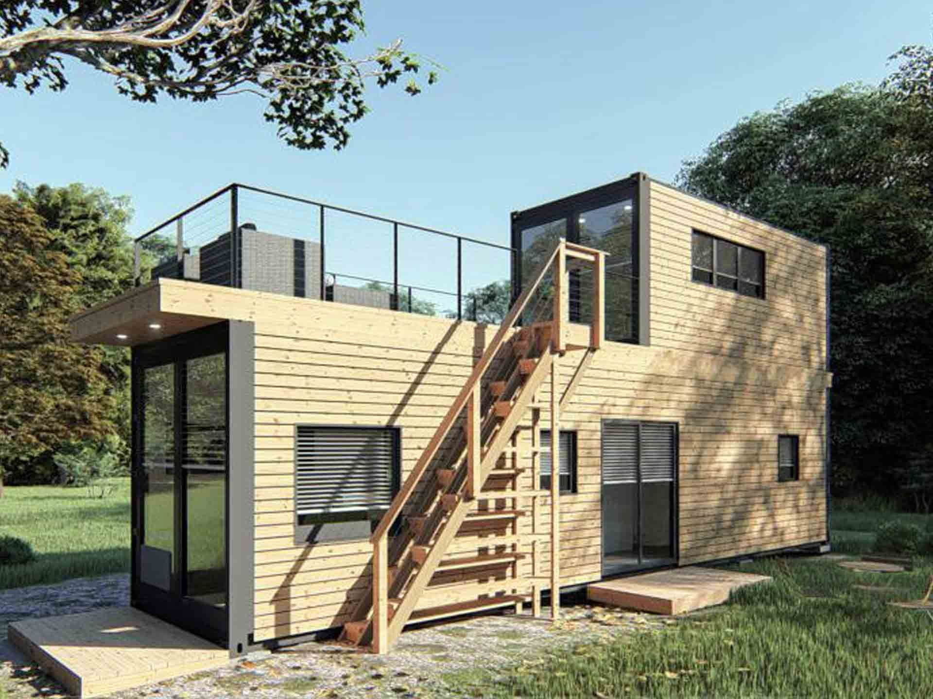 Container Fertighaus Kaufen ▷ Modulhaus Smart Living Project L - Whiterock | Container-haus, Haus, Container Home Designs