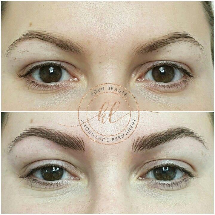 Maquillage Permanent Sourcils Poils A Poils Au Centre Eden Beaute