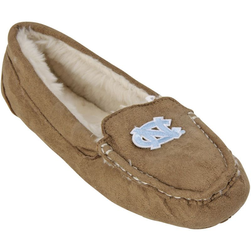 North Carolina Tar Heels Women's Chestnut Moccasin Slippers