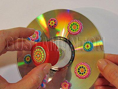 Peonza casera manualidad f cil de reciclaje para ni os manualidades discos and con cd - Manualidades con papel craft ...