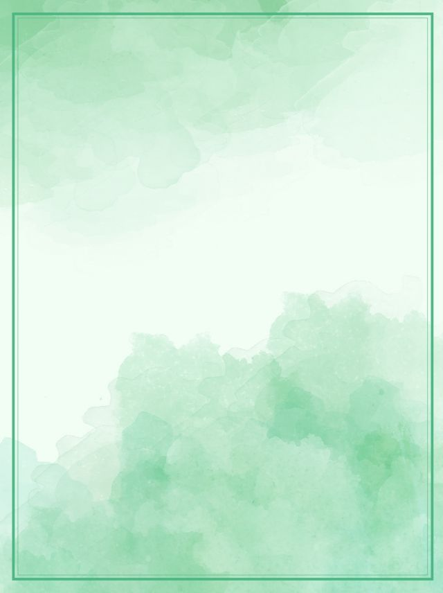 Green gradient watercolor ink effect poster background