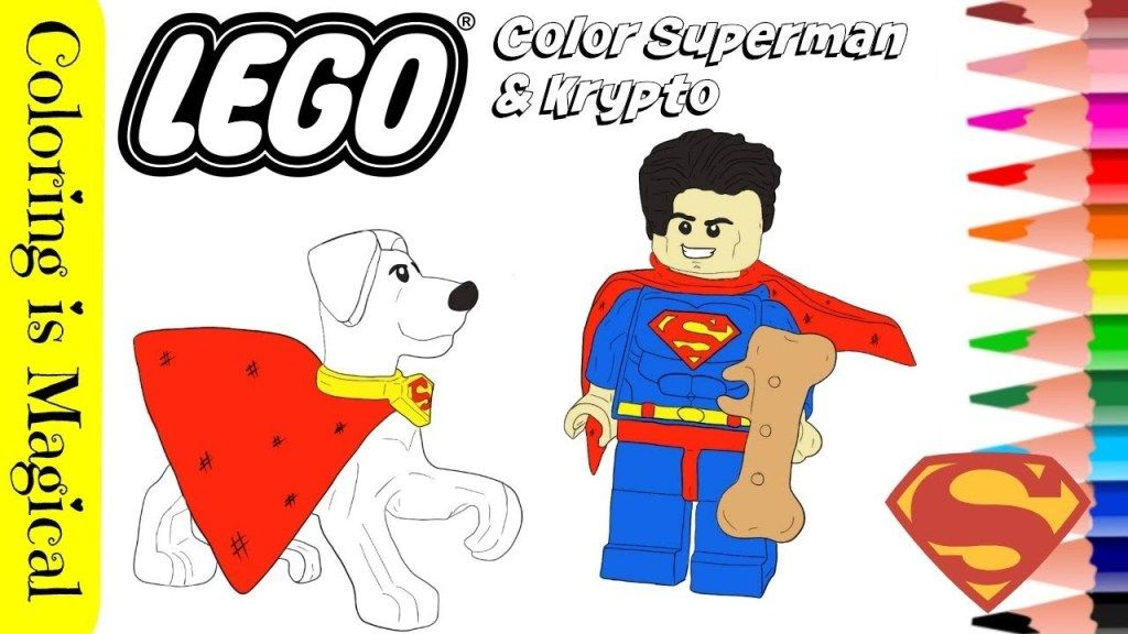 Superman And Krypto Lego Coloring Video Lego Coloring Lego Coloring Pages Lego