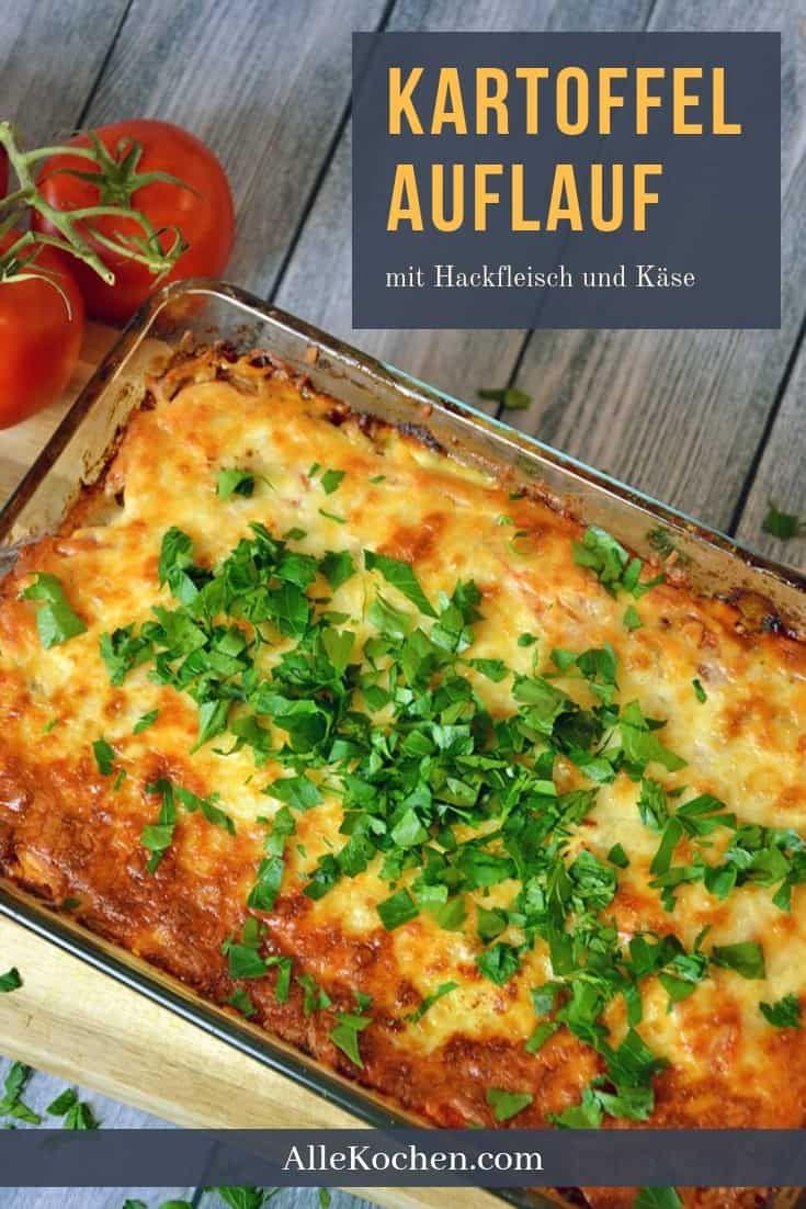 Kartoffelauflauf mit Hackfleisch und Käse
