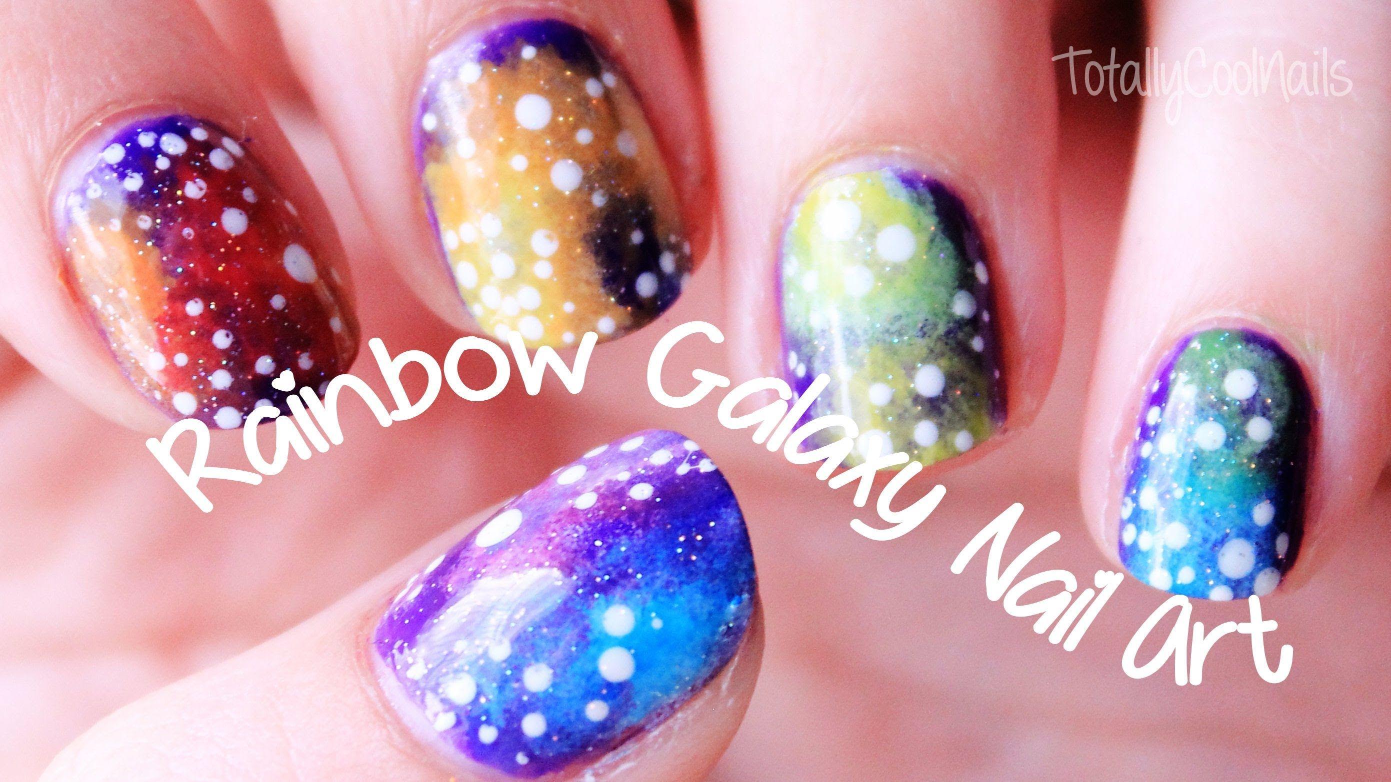 Rainbow Galaxy Nail Art | TotallyCoolNails | Too cute | Pinterest ...