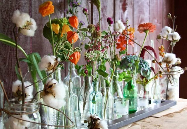 Glass Bottles For Wedding Decorations Classy Fab Friday Glass Bottles Wedding Decor  Weddings  Pinterest Decorating Design