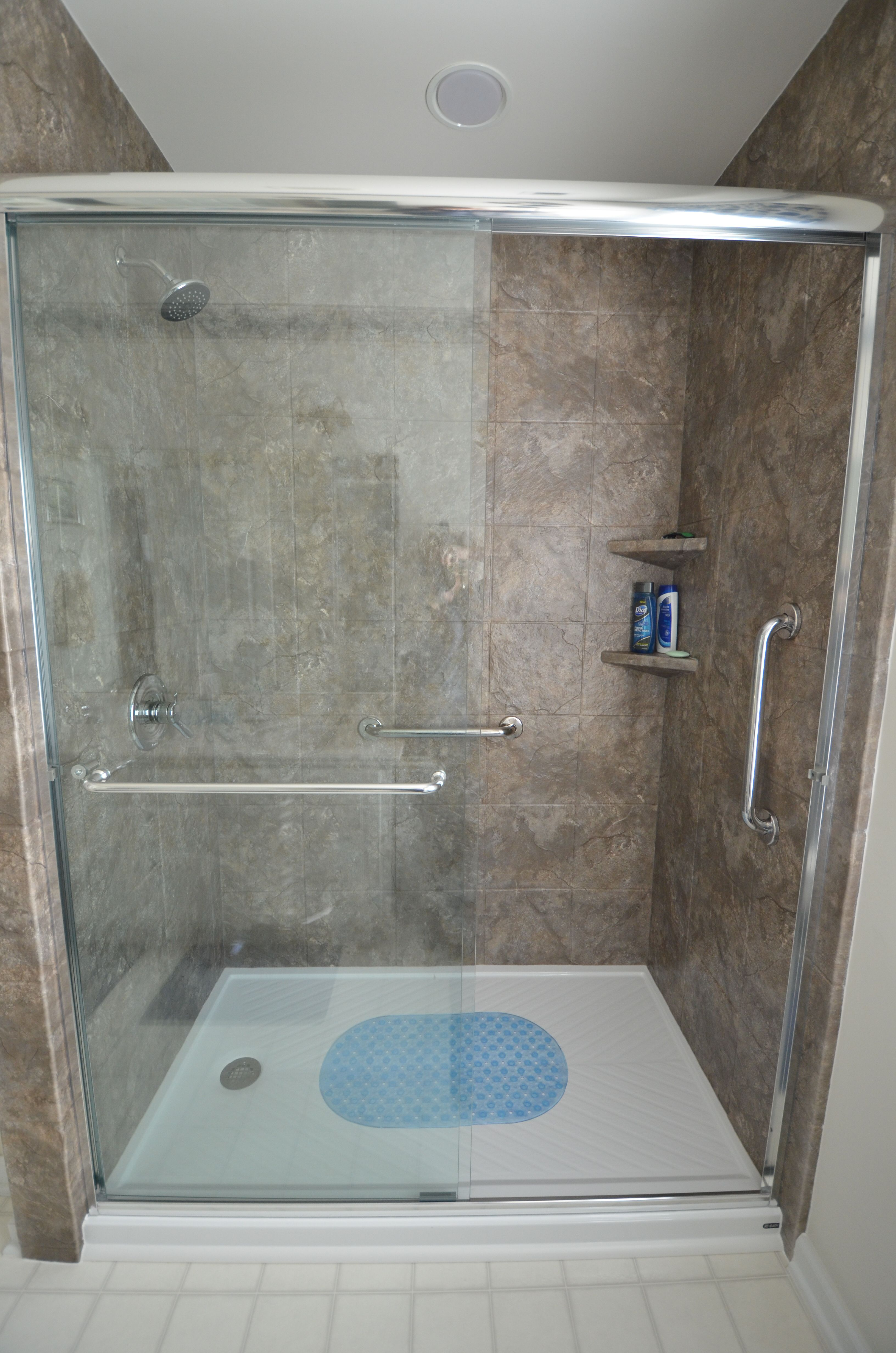 Bathroom Remodel from Re-Bath - oversized tile, low threshold shower ...