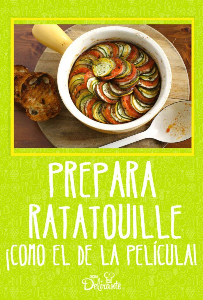 Aprende a cocinar el ratatouille perfecto como el de la for Platillos franceses faciles