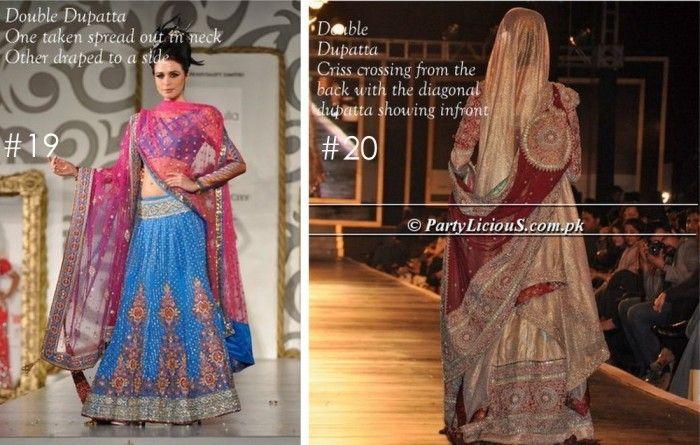 Bridal dupatta setting styles pakistani dresses