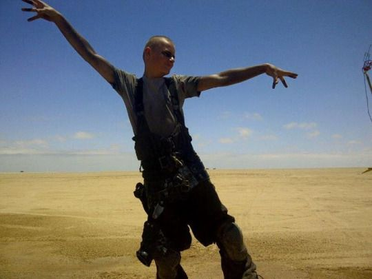 On the set of Mad Max Fury Road