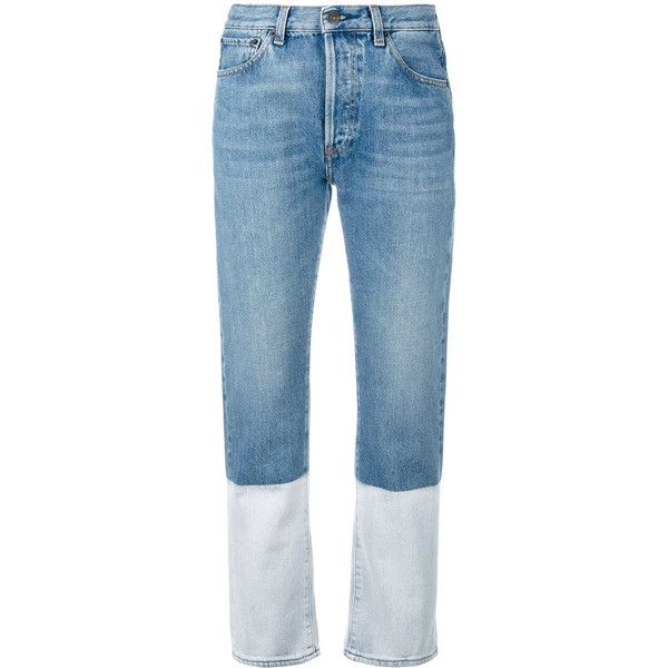 Ports 1961 bootcut cropped jeans (€360) ❤ liked on Polyvore featuring jeans, pants, bottoms, denim, trousers, blue, ports 1961, boot-cut jeans, cropped jeans and boot cut jeans