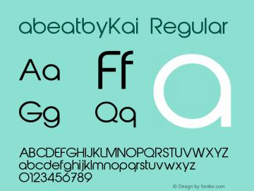 abeatbyKai Regular Fontographer 4.7 4/23/11 FG4M ...