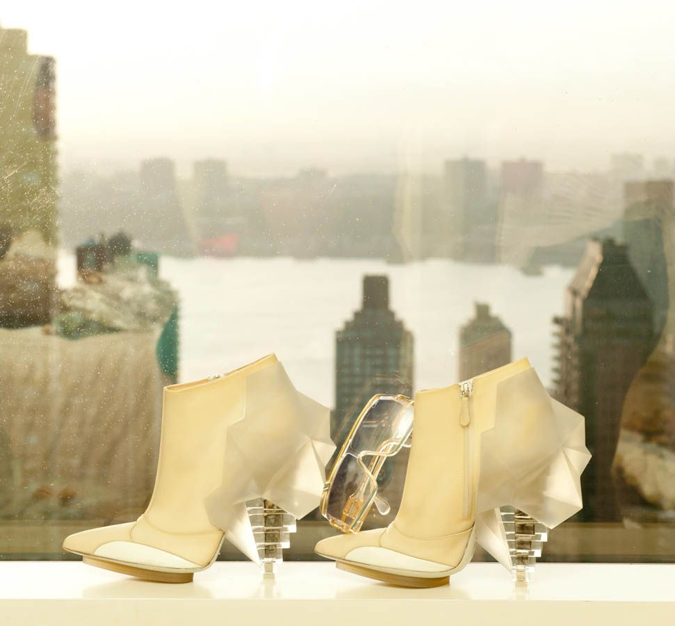 Killer shoes, impossible to walk in!  http://thecoveteur.com/Jen_Kao
