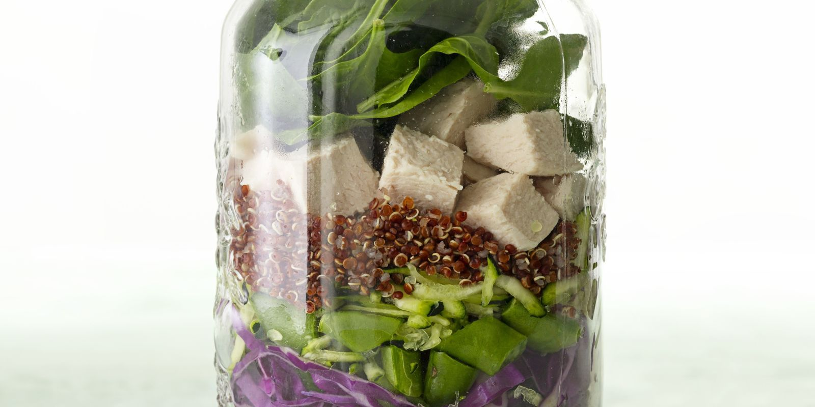 Grab it to go! The mason jar salad is a moveable feast.