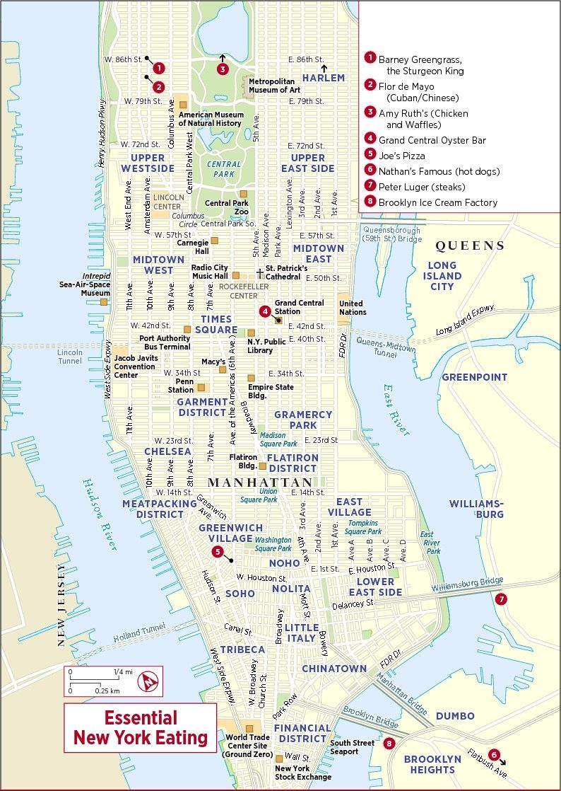 Map Of New York City Map Of The World - New york neighborhood map