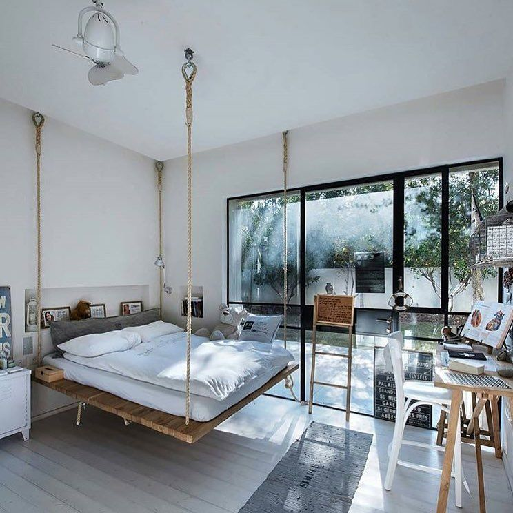 Loft Bedroomdesign: Bed In The Air Would You Take A Nap Here? Want The Secrets
