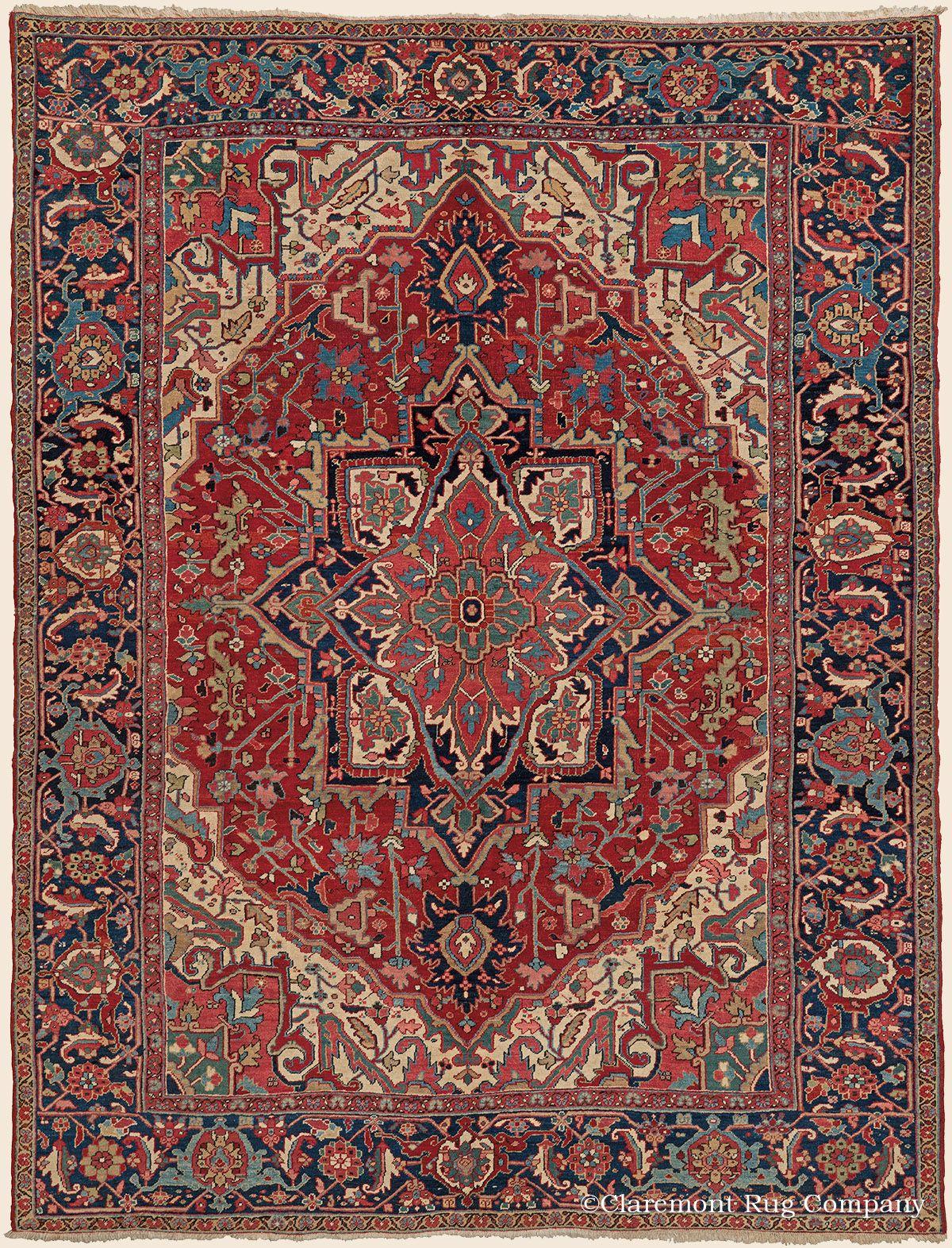 Heriz 8 9 X 11 5 Circa 1920 Price 14 000 Northwest Persian Antique Rug Claremont Company