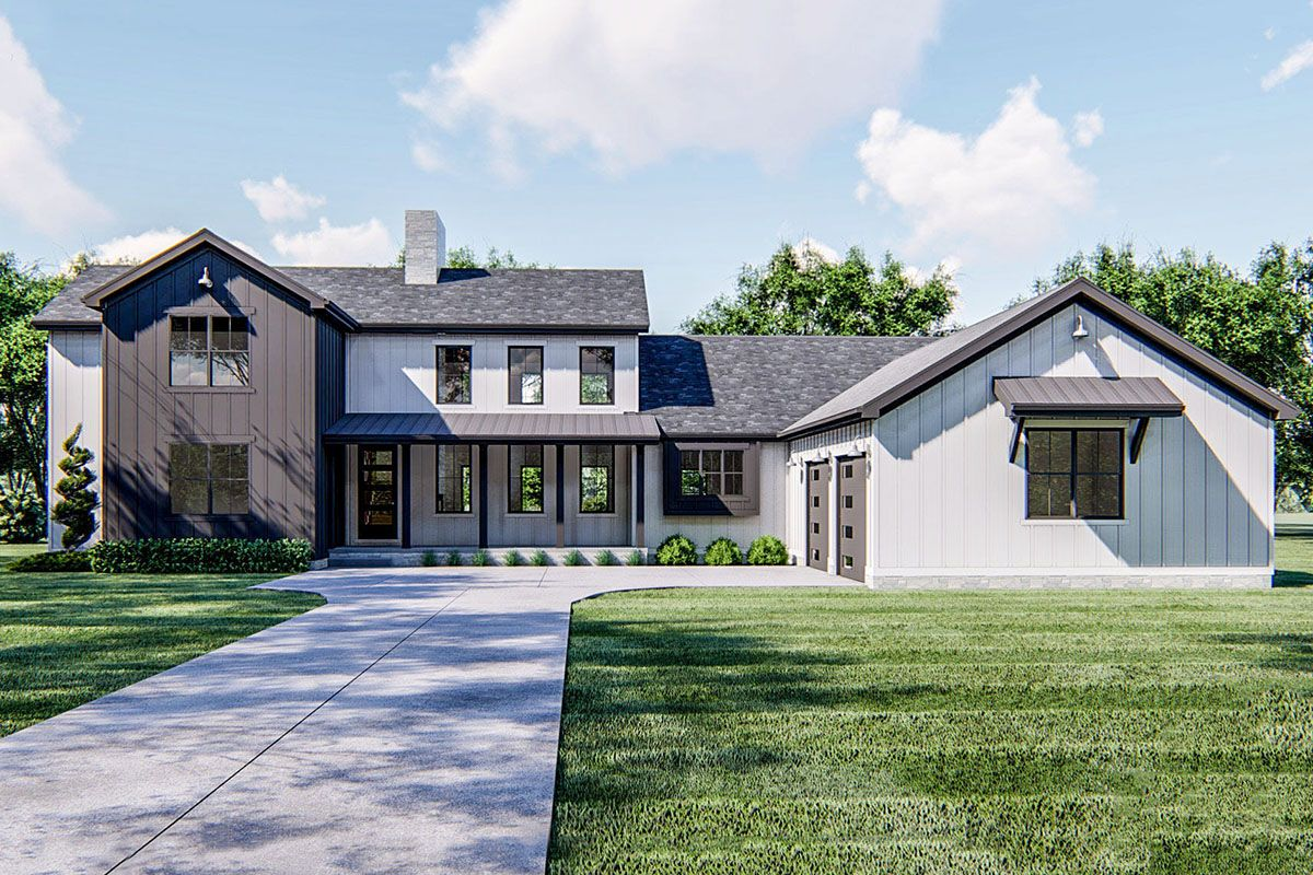 Plan 62855DJ: New American House Plan with Two Main Floor ...