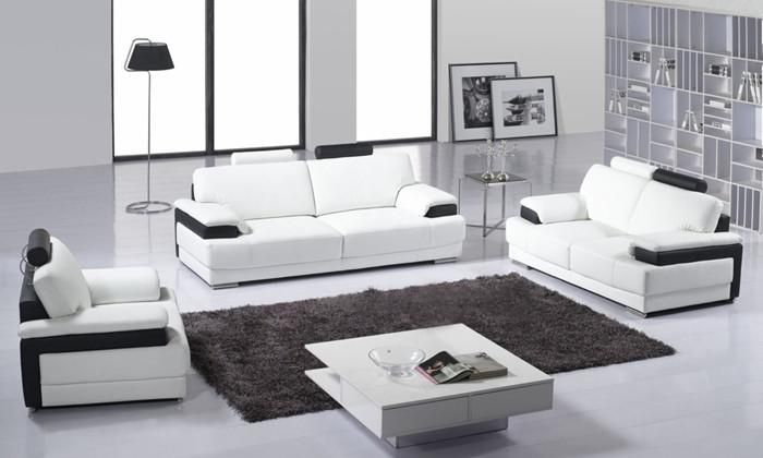 Superbe Classic 123 Sectional Living Room Sofa Top Grain Leather Sofa Solid Wood  Frame