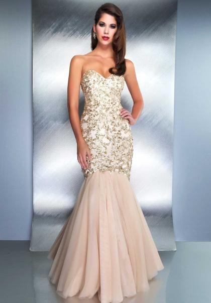 Champagne Color Formal Dresses