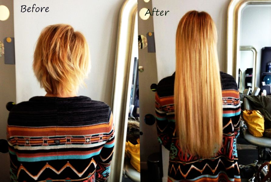 These Hair Extensions For Short Hair Totally Changed Her Looks