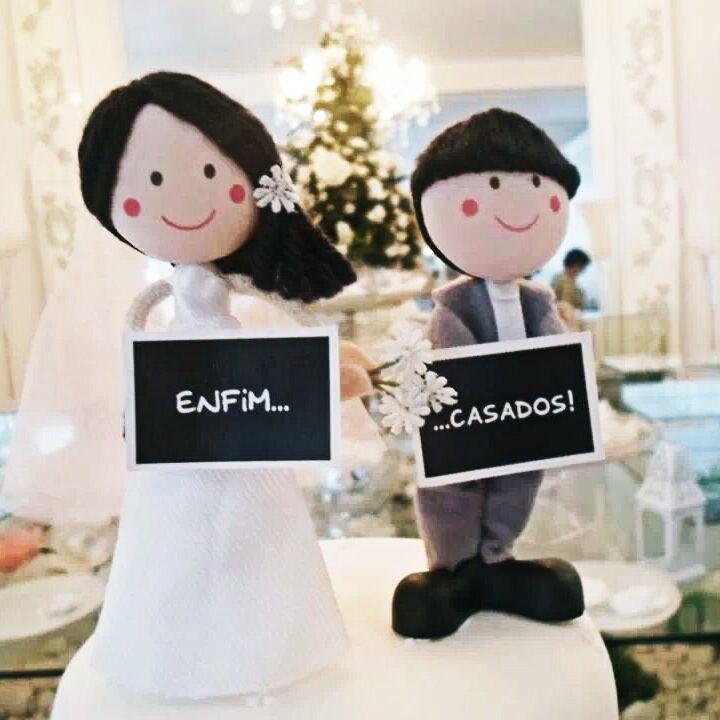 Meus noivinhos - Enfim Casados!  Topo do bolo! <3