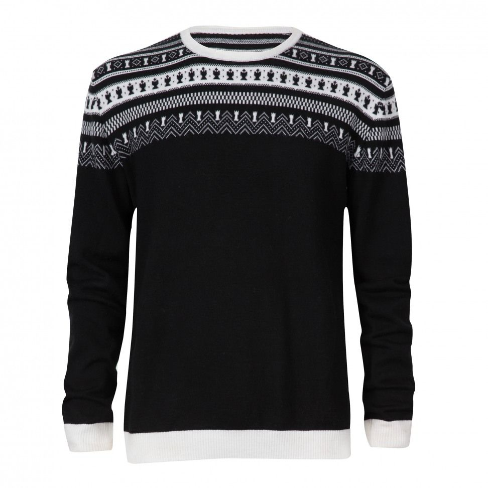 Magnus Carlsen Sweater Merino Black..new take on a norwegian sweater from moods of norway store