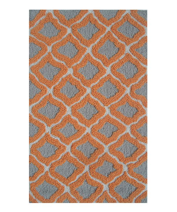 Take a look at this Orange & Gray Marrakesh Rug on zulily today!