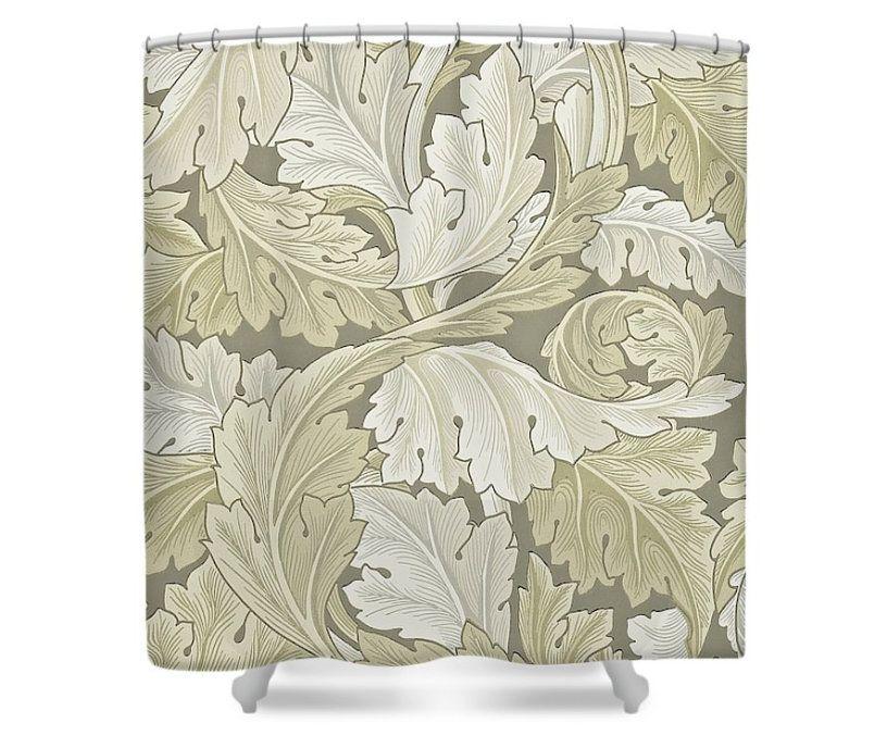 William Morris Acanthus Terracotta Shower Curtain In 2019 L A