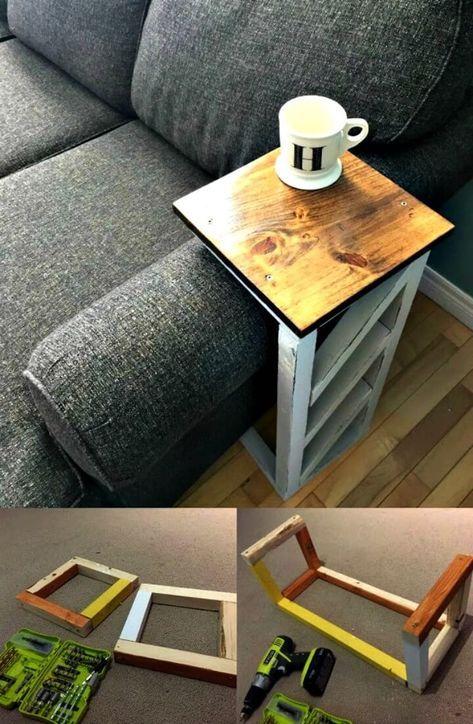 How To Make Sofa Arm Table 10 Best Diy Sofa Arm Table Ideas Diy Crafts Diy Sofa Diy Sofa Table Sofa Arm Table
