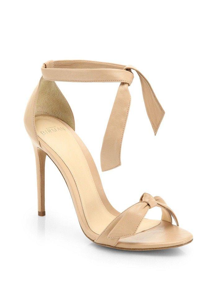 bow strap heeled sandals - Nude & Neutrals Alexandre Birman IrL4b5Of