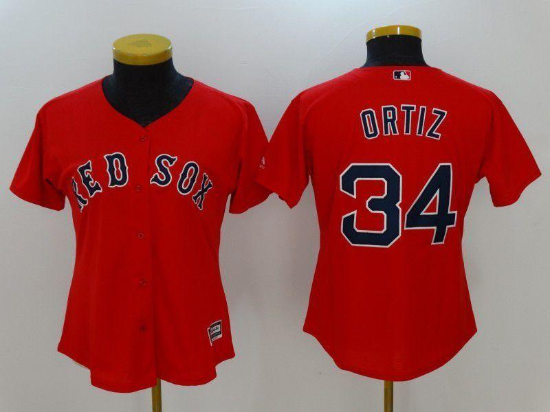 timeless design 98e43 f3876 Womens 2017 MLB Boston Red Sox 34 Ortiz Red Jerseys,cheap ...