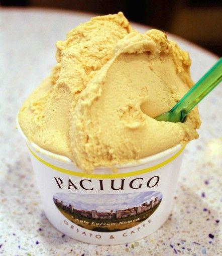 Amaretto-pumpkin pie gelato at Paciugo