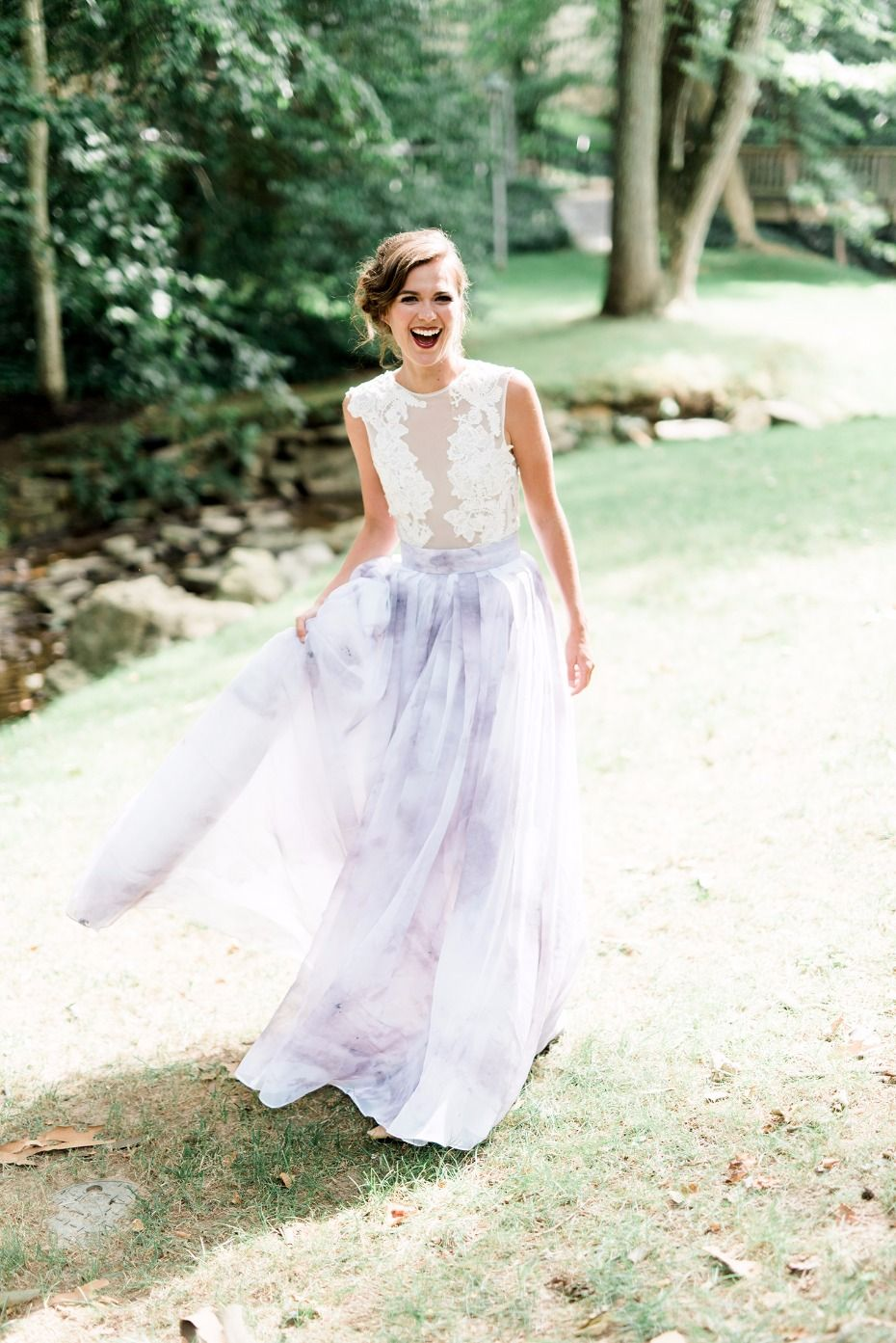 How To Have A Purple Watercolor Wedding Wedding Dresses Pink