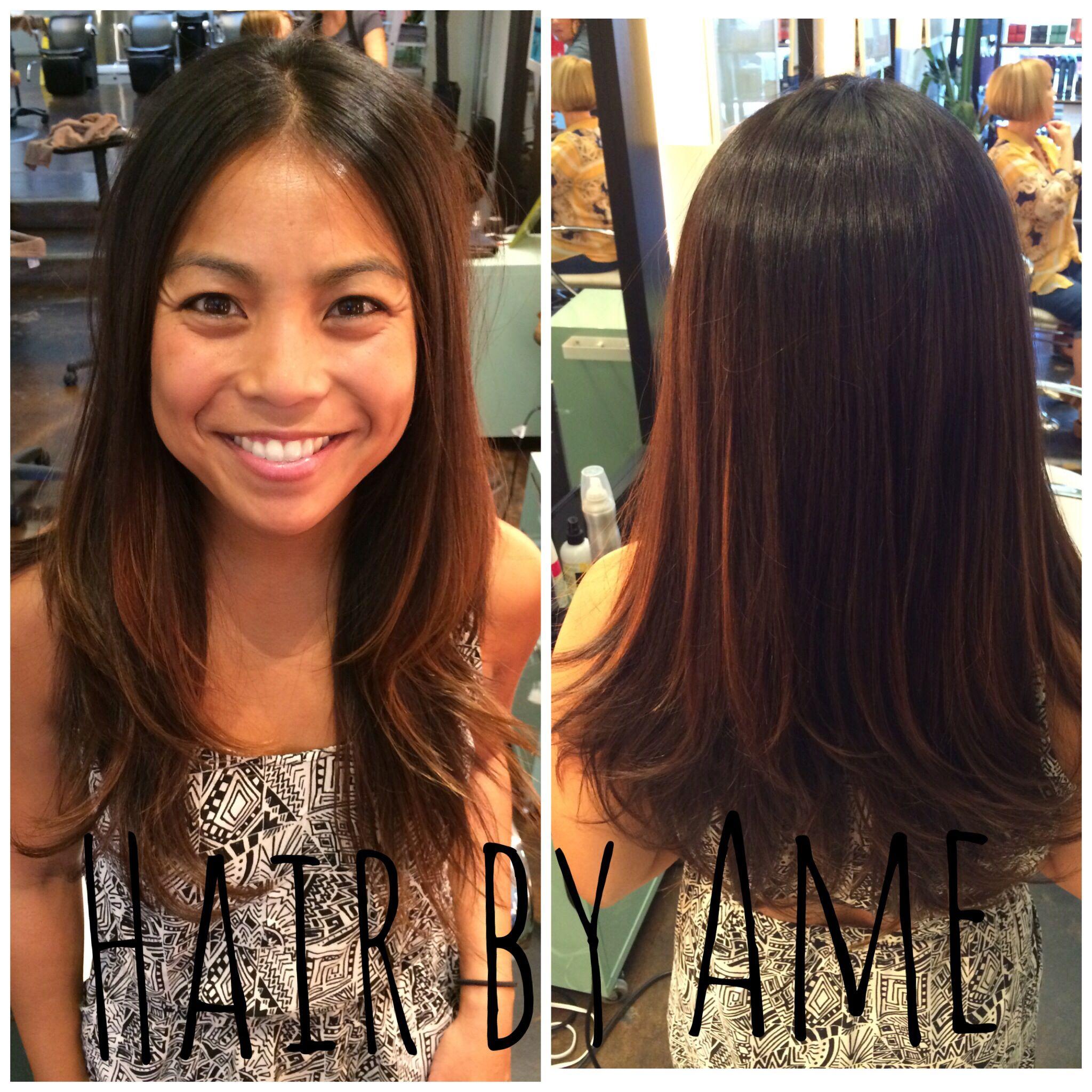Long Layered Haircut Cut Specialist The Lab A Salon San Diego