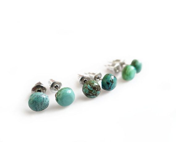earrings turquoise s small studs tiny stud genuine