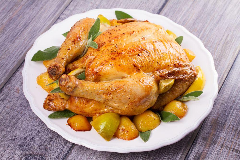 Receta De Pollo Al Horno Relleno De Manzana Unareceta Com Recipe Chicken Recipes Whole Chicken Recipes Whole Chicken